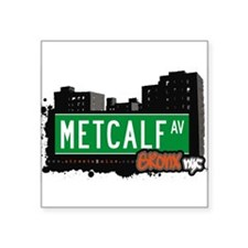 "Metcalf Ave Square Sticker 3"" x 3"""