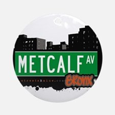 Metcalf Ave Ornament (Round)