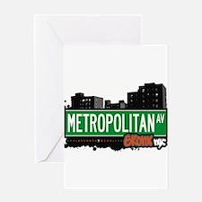 Metropolitan Ave Greeting Card