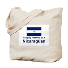 Happily Married To A Nicaraguan Tote Bag