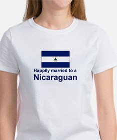 Happily Married To A Nicaraguan Women's T-Shirt