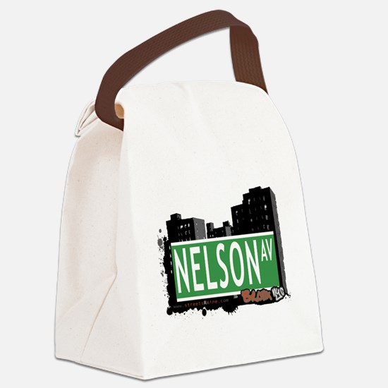 Nelson Ave Canvas Lunch Bag