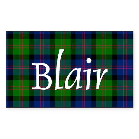 Tartan - Blair Sticker (Rectangle)
