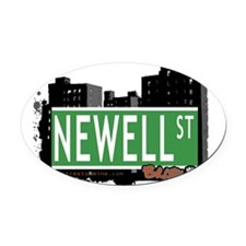 Newell St Oval Car Magnet