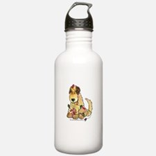 Doodle Holiday Lights Sports Water Bottle