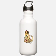 Doodle Holiday Lights Water Bottle