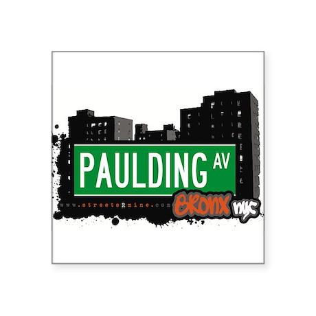 "Paulding Ave Square Sticker 3"" x 3"""
