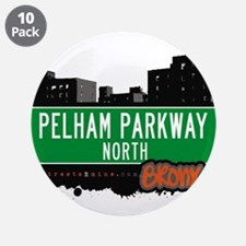 "Pelham Parkway North 3.5"" Button (10 pack)"