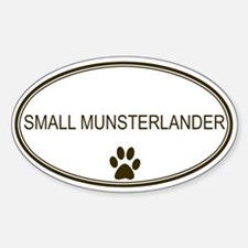 Oval Small Munsterlander Oval Decal