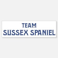 Team Sussex Spaniel Bumper Bumper Bumper Sticker