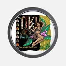 Tiki Joe's Beach Bar Wall Clock