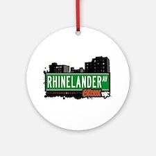 Rhinelander Ave Ornament (Round)