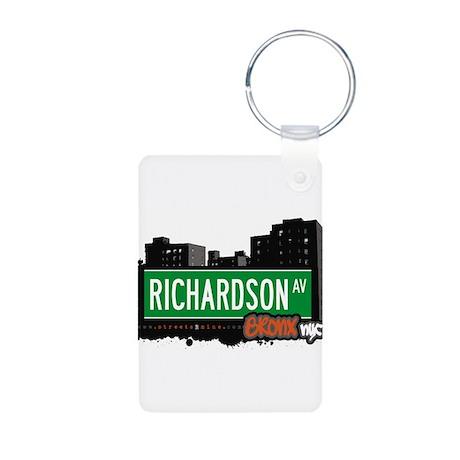 Richardson Ave Aluminum Photo Keychain