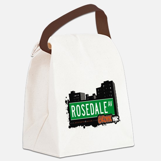 Rosedale Ave Canvas Lunch Bag