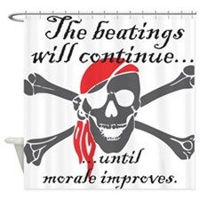 Morale Beatings Shower Curtain