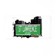 ST LAWRENCE AVENUE, BRONX, NYC Aluminum License Pl