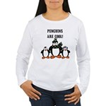 Penguins Are Cool Women's Long Sleeve T-Shirt