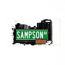 Sampson Ave Aluminum License Plate