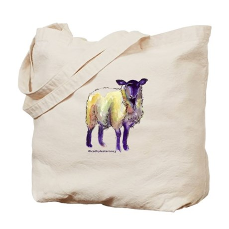 Black Face Sheep Tote Bag
