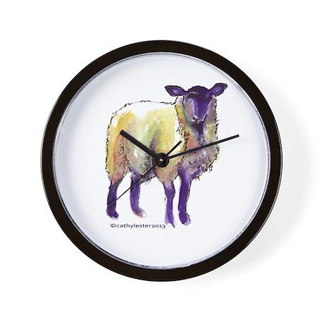 Black Face Sheep Wall Clock