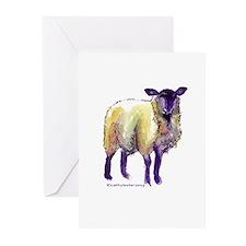 Black Face Sheep Greeting Cards (Pk of 10)