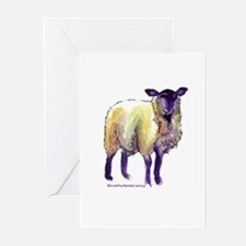 Black Face Sheep Greeting Cards (Pk of 10)