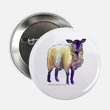 """Black Face Sheep 2.25"""" Button"""