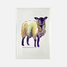 Black Face Sheep Rectangle Magnet (10 pack)