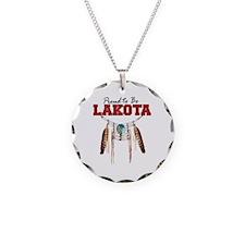 Proud to be Lakota Necklace Circle Charm