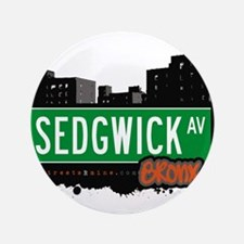 "Sedgwick Ave 3.5"" Button"