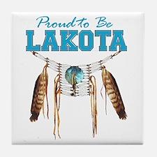 Proud to be Lakota Tile Coaster