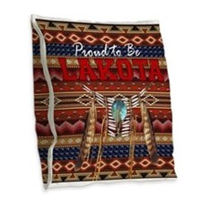 Proud to be Lakota Burlap Throw Pillow