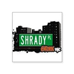 Shrady Pl Square Sticker 3