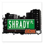 Shrady Pl Square Car Magnet 3
