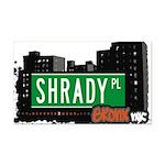 Shrady Pl Rectangle Car Magnet