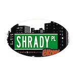 Shrady Pl Oval Car Magnet