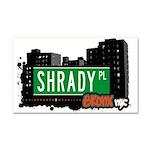 Shrady Pl Car Magnet 20 x 12