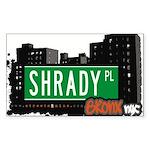 Shrady Pl Sticker (Rectangle 50 pk)