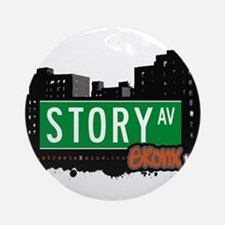 Story Ave Ornament (Round)