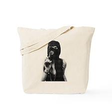 Halftone girl with a gun Tote Bag