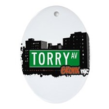Torry Ave Ornament (Oval)