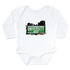 University Ave Long Sleeve Infant Bodysuit