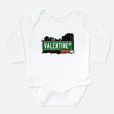 Valentine Ave Long Sleeve Infant Bodysuit