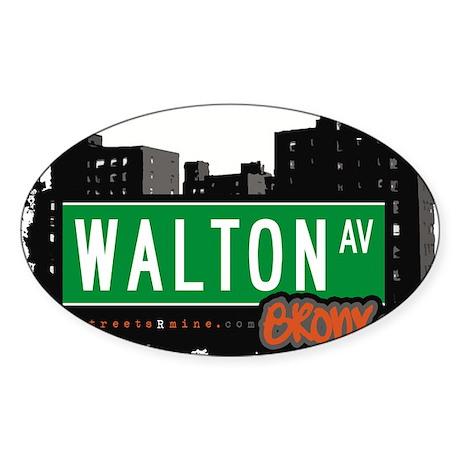 Walton Ave Sticker (Oval 50 pk)