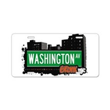 Washington Ave Aluminum License Plate