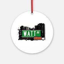 Watt Ave Ornament (Round)
