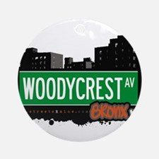 Woodycrest Ave Ornament (Round)