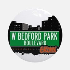 W Bedford Park Blvd Ornament (Round)