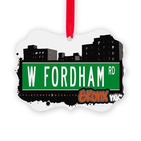 W Fordham Rd Picture Ornament