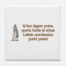 Read Latin -  Tile Coaster